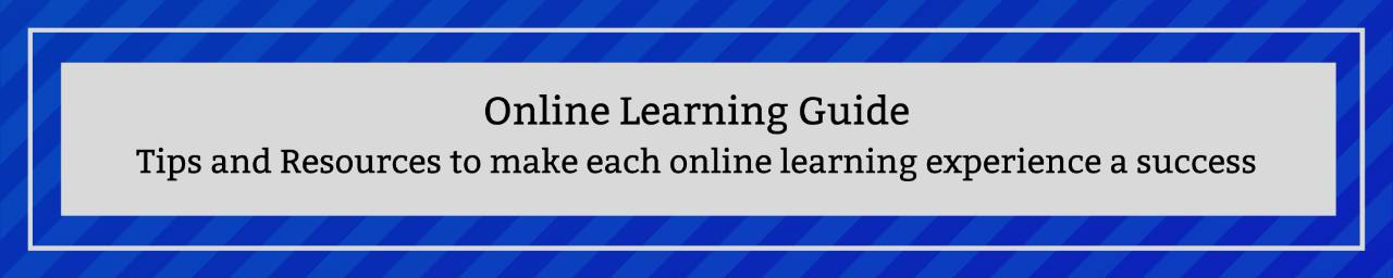 Online Learning Guide: Tips and Resources to make each online learning experience a success